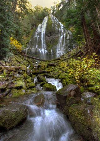 proxy falls: Proxy Falls along McKenzie Pass in Oregon