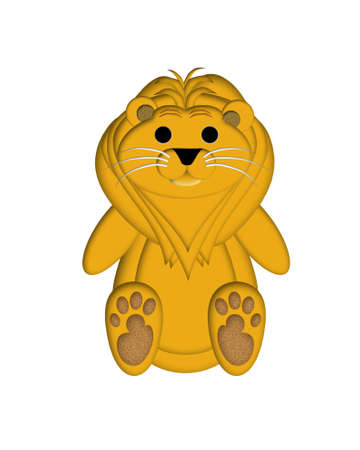 Lion Illustration for Childrens Book or Greeting Card illustration