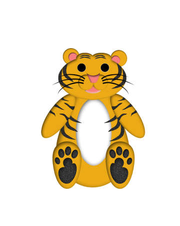 sumatran: Tiger Illustration for Childrens Book or Greeting Card