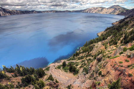 crater lake: Crater Lake from Rim Drive in Central Oregon