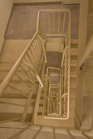 Fire Escape Exit Staircase in Office Building Stock Photo - 6560065