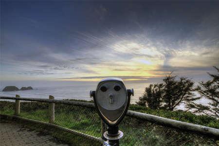 Punto de vista de escénicas del Océano Pacífico en cabo Meares  Foto de archivo - 6560069