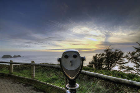 Scenic View Point of Pacific Ocean at Cape Meares photo
