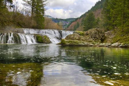 Dougan Falls in Washington Scenic Columbia Gorge Stock Photo - 6590089
