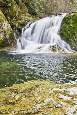 Naked Falls in Washougal River  Columbia Gorge Washington Stock Photo - 6590071