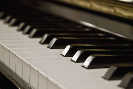 Piano Keys Close Up with Blur Background photo