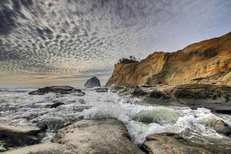 Crashing Waves at Cape Kiwanda and Haystack Rock photo