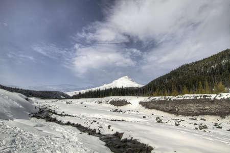 mount hood national forest: Mount Hood National Forest Oregon in Winter
