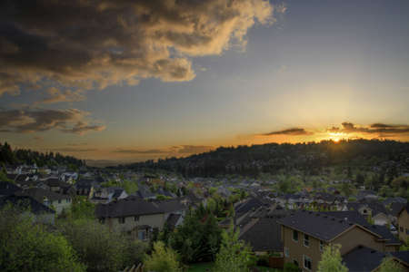 Sunset at the Suburbs of Happy Valley Oregon 2 photo