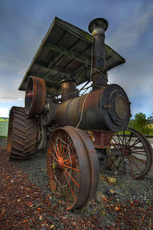 Old Antique Steam Farm Tractor in Oregon Stock Photo - 6895567