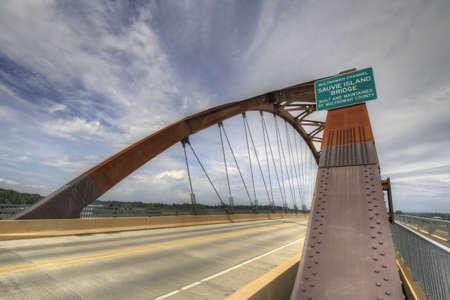 Sauvie Island Bridge Over Willamette River Portland Oregon 3 Stock Photo - 7009514