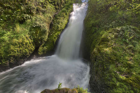 Bridal Veil Falls in the Columbia River Gorge Stock Photo - 7135807