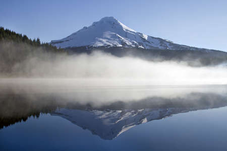 Reflection of Mount Hood on Trillium Lake Oregon Stock Photo - 7169660