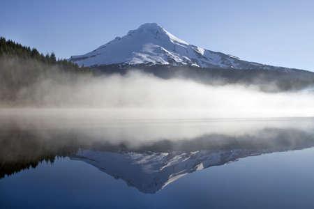 trillium lake: Reflection of Mount Hood on Trillium Lake Oregon