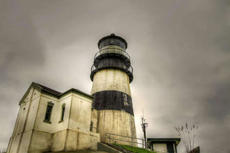 disappointment: Cape Disappointment Lighthouse in Ilwaco Washington by Columbia River 4 Stock Photo