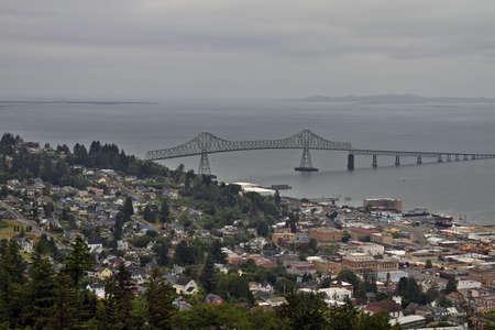 coxcomb: Historic City of Astoria Oregon Aerial View