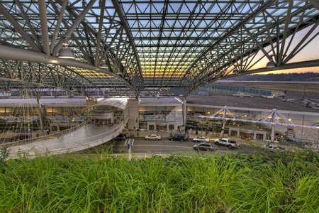 Portland International Airport Departure Terminal at Sunset Stock Photo - 7443542