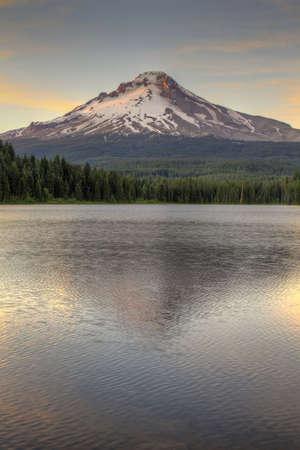 Mount Hood by Trillium Lake at Sunset in Oregon 2 Stock Photo - 7461913