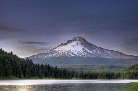 Mount Hood by Trillium Lake at Sunset in Oregon 5 Stock Photo - 7461909