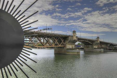Burnside Bridge over Willamette River Portland Oregon Stock Photo - 7505481