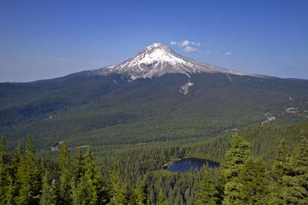 Mount Hood and Mirror Lake in National Scenic Area Oregon 2 Stock Photo - 7505488