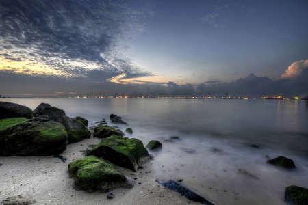 Sunrise at East Coast Park Beach Park in Singapore twee