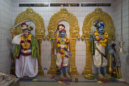 Sri Veeramakaliamman Hindu temple deities in Serangoon Road Singapore