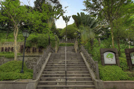 Stairs at Fort Canning Park in Singapore