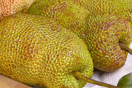 Jackfruit on Fruit Stand in Tropical Country 2 photo