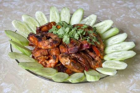 Sambal Chili Prawns Asian Cuisine Home Cook Dish 2 photo