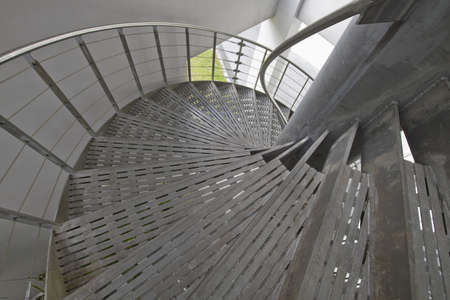 Metal Spiral Staircase Leading  up to the Roof Top photo