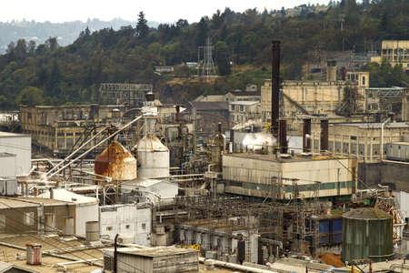 willamette: Industrial Area along Willamete River in Oregon City