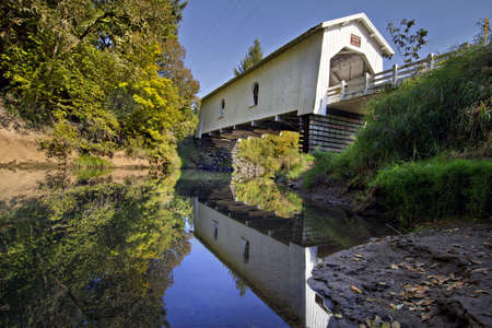 Hoffman Covered Bridge Over Crabtree Creek in Oregon 3