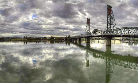Hawthorne Bridge Over Willamette River Portland Oregon Stock Photo - 8098523