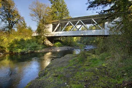 louvered: Hannah Covered Bridge over Thomas Creek Oregon 2