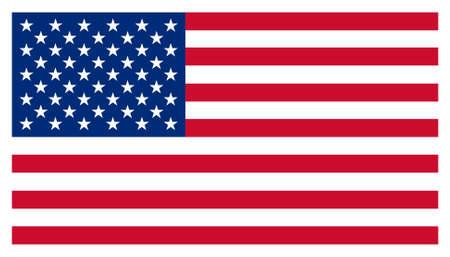 banderas america: Estados Unidos Stars & Stripes bandera estadounidense aislado ilustraci�n
