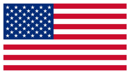 USA Stars and Stripes American Flag Isolated Illustration
