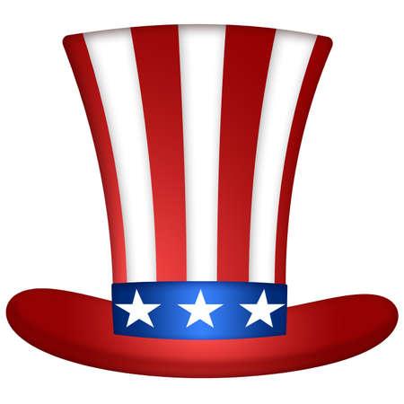 Uncle Sam Hat Illustration illustration