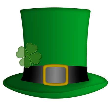 St Patricks Day Irish Leprechaun Hat Illustration