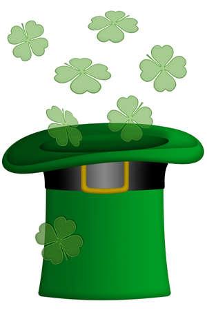 patrick's: St Patricks Day Irish Leprechaun Hat Illustration
