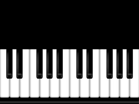 Piano Keyboard Black and White Background Illustration Stock Illustration - 8937985