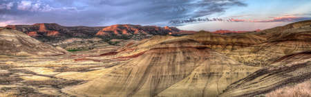 john: Painted Hills in John Day Fossil Beds National Monument Oregon Panorama
