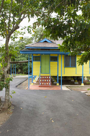 Traditional Colorful Malay House Along the Street in Malacca Malaysia