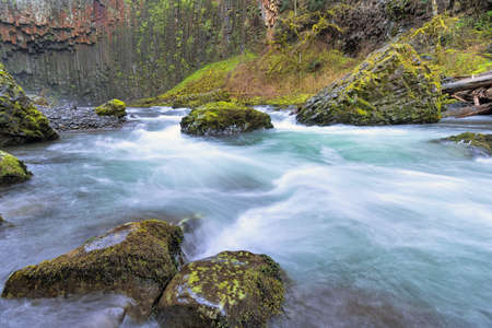 marion: Abiqua Creek in Marion County Oregon in Springtime Stock Photo