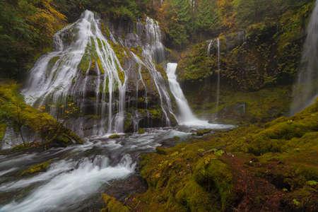 northwest: Base of Panther Creek Falls in Washington State during Fall Season