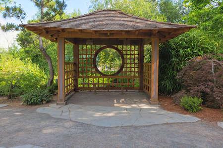 Gazebo in Tsuru Island Japanese Garden in Gresham Oregon Main Street City Park