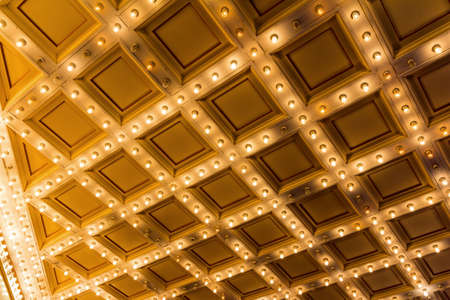 ceiling: Marquee Lights  on Broadway Theater Art Deco ceiling