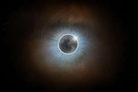 Totale zonsverduistering Maanzoncorona