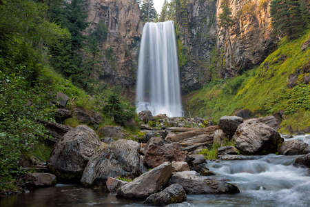 Tumalo Falls in Deschutes County Central Oregon Closeup
