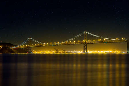 The San Francisco Oakland Bay Bridge on a Starry Night by Seaport